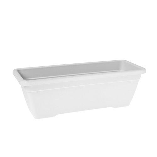 Lote jardinera y plato venezia blanco 80 cm