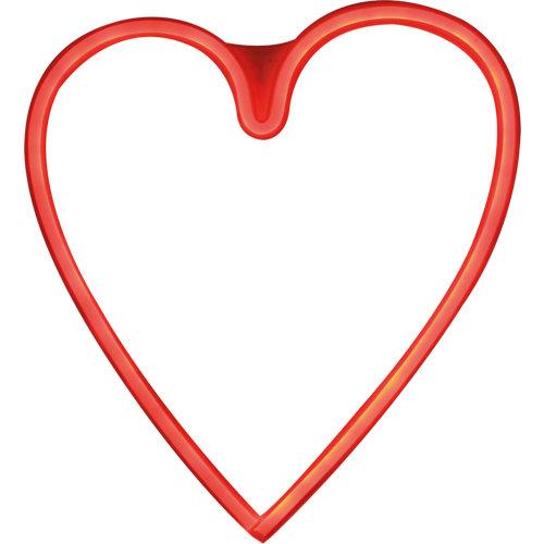 Neon corazón rojo usb/red