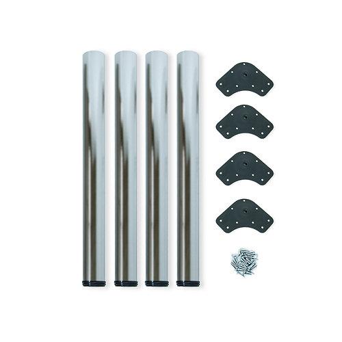 4 patas ø60 mm regulable 710-730 mm acero níquel satinado