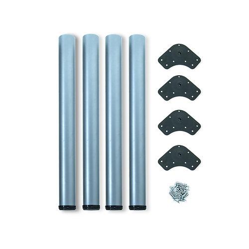 4 patas ø60 mm regulable 830 - 850 mm acero gris metalizado