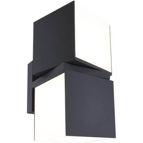 Aplique led de exterior cuby negro