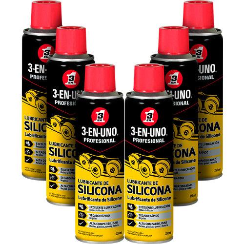 Lote 6 botes 3-en-uno lubricantes de silicona 250ml cada uno