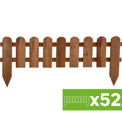 Lote 52 bordura plantar de resina y madera 28x110cm cada una