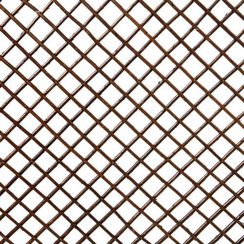Lote 12 paneles de celosía extensible de mimbre marrón oscuro 100x200 cm