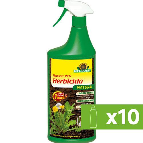 Lote 10 botes de un litro de herbicida polivalente neudorf