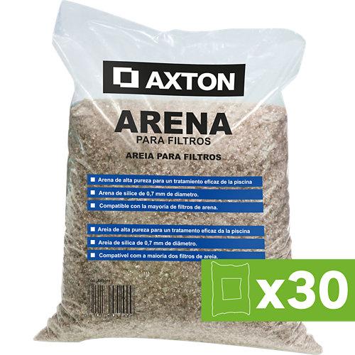 Lote 30 sacos de 25 kgs de arena para filtros de piscina axton