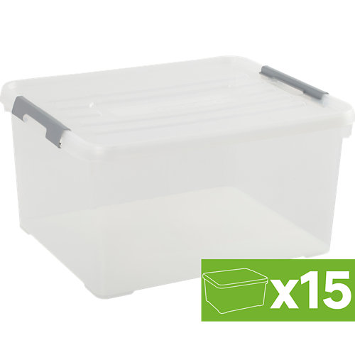 Lote 15 cajas spaceo 25x49x39 cms 35l