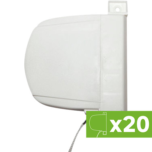 Lote 20 recogedor persiana pvc blanco 32x175x130mm cada uno