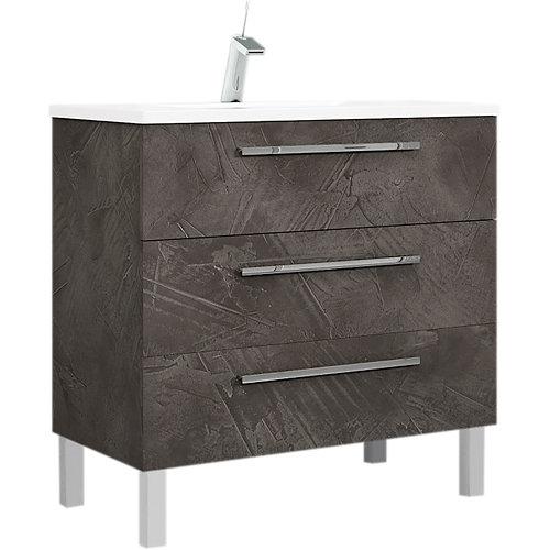 Mueble de baño madrid grafito 80 x 45 cm