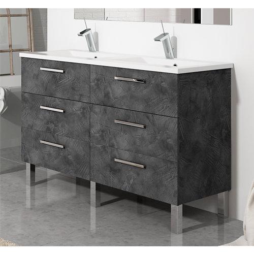 Mueble de baño madrid grafito 120 x 45 cm