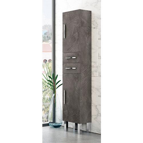 Columna de baño madrid grafito 35x180x30 cm