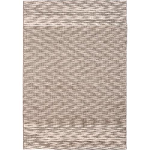 Alfombra de interior y de exterior color beige aspecto gráfico 160cm x 230cm