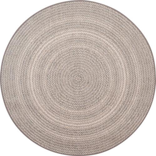 Alfombra de interior/exterior color gris / plata aspecto gráfico 120cm x120cm