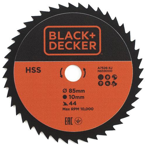 Hoja de sierra circulaar b&d hss 85x10 44t