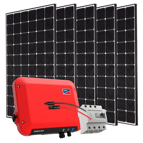 Kit solar autoconsumo a red con inversor sma1.5 y 5 paneles lg neon2 de 355w