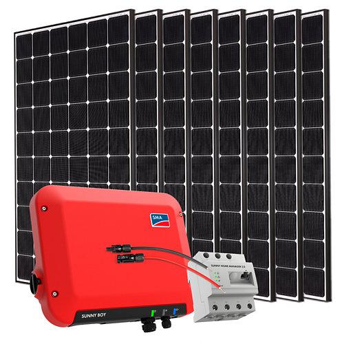 Kit solar autoconsumo a red con inversor sma2.5 y 8 paneles lg neon2 de 355w