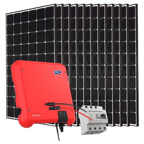 Kit solar autoconsumo a red con inversor sma3.6 y 12 paneles lg neon2 de 355w
