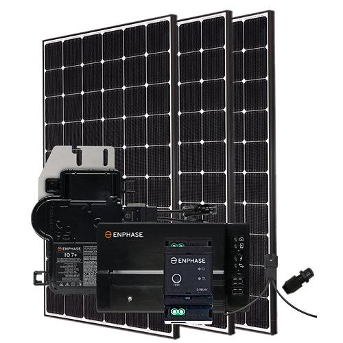 Kit solar autoconsumo: 3 módulos lg neon 2 de 355w y microinversores enphase