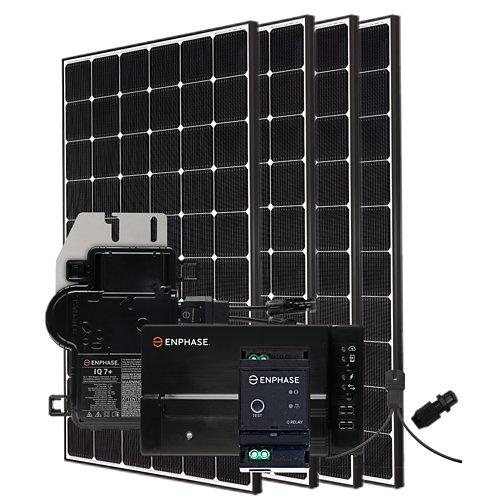 Kit solar autoconsumo: 4 módulos lg neon 2 de 355w y microinversores enphase