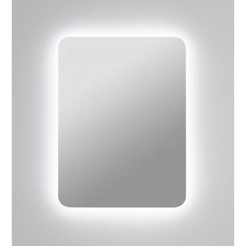 Espejo de baño con luz led zania 80 x 80 cm