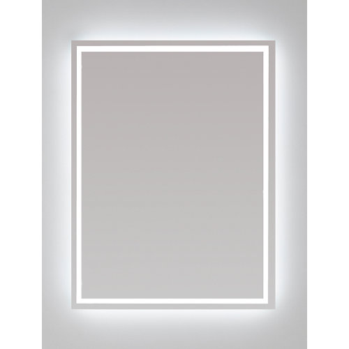 Espejo de baño con luz led nashira 80 x 60 cm