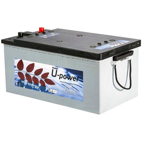 Batería agm sp 250ah 12v u-power sin mantenimiento