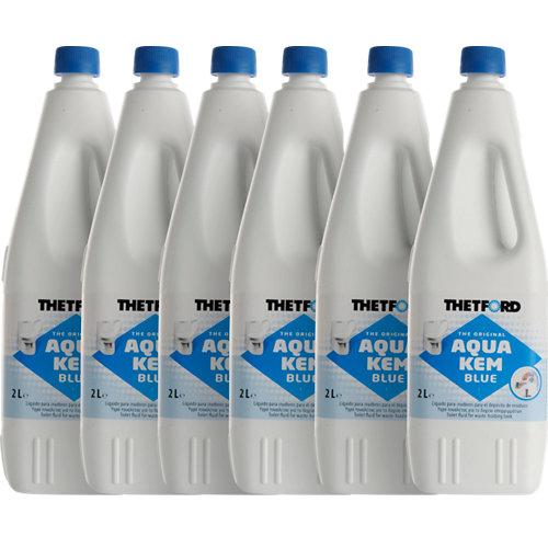 Lote 6 botella wc químico thetford aqua kem blue 2l cada una
