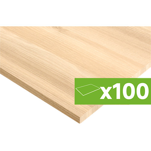 Lote de 100 tableros de pino nudo 200x60x1,8 cms