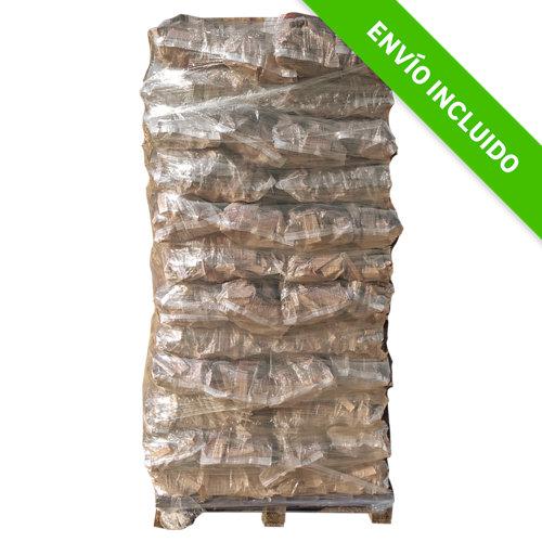Palet de astillas de pino leñas oliver de 720 kg