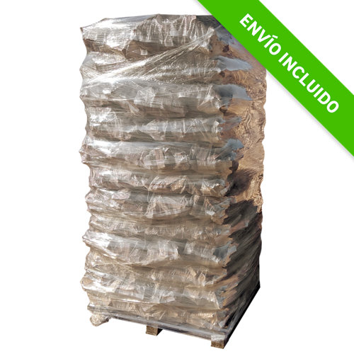 Palet de sacos de piña de encendido leñas oliver de 520 kg