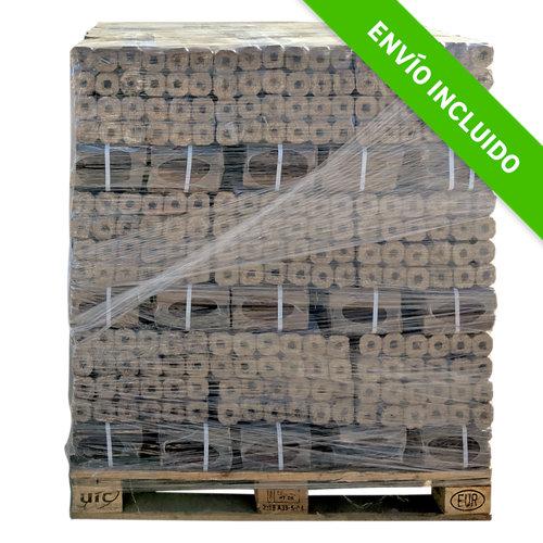 Palet de briquetas de madera leñas oliver de 890 kg