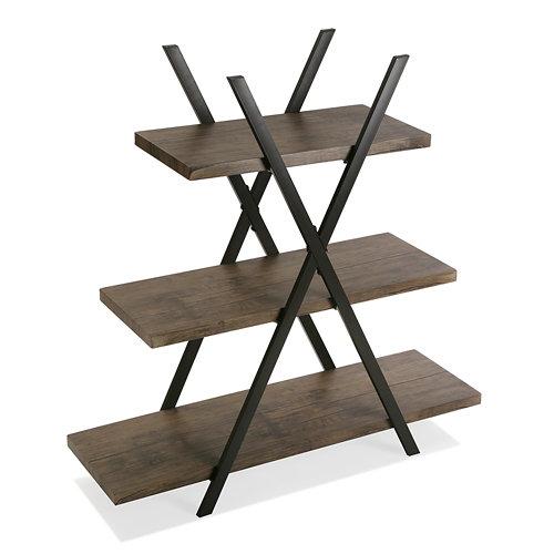 Estanteria 3 baldas jules metal y madera 100x33x101cm