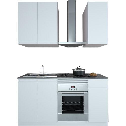 Cocina en kit delinia id tokyo blanco mate 180cm cm con muebles altos y bajos