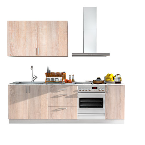 Cocina en kit delinia id arizona mate 240cm con muebles altos y bajos