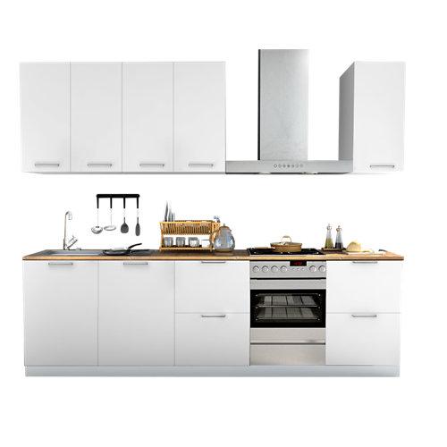 Cocina en kit delinia id sofia blanco 300cm con muebles altos y bajos