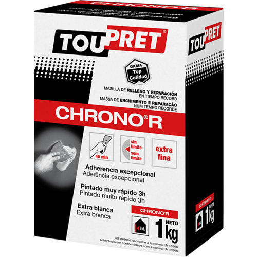Plaste en polvo chrono ultrarrápida toupret 1kg