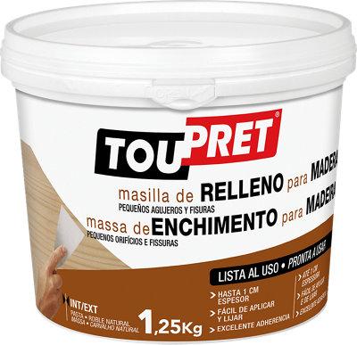 Plaste en pasta de reparación madera TOUPRET 1KG