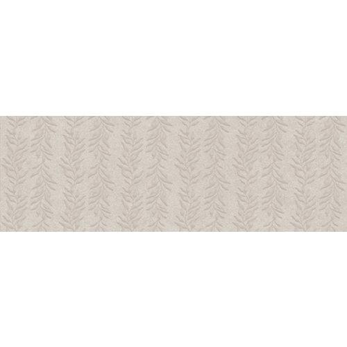 Azulejo cerámico serena 30x90 liana gris relieve artens