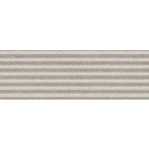 Azulejo cerámico serena 30x90 slat gris relieve artens