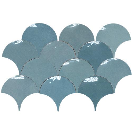 Azulejo cerámico scale 12x12 azul