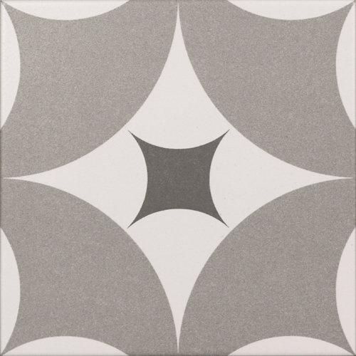 Revestimiento cerámico serie agora 20x20 cm gris