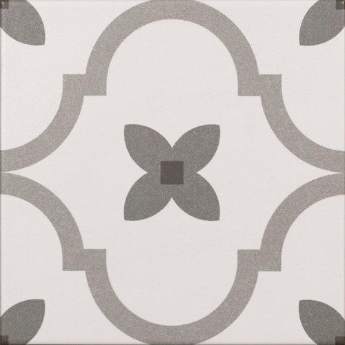 Revestimiento cerámico serie delfos 20x20 cm gris