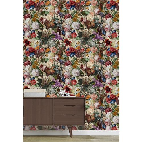 Papel pintado tnt floral lea w-10 beige para 6,80 m2