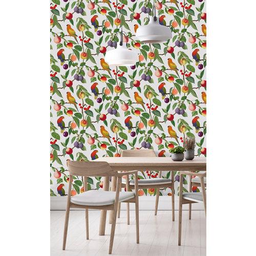 Papel pintado tnt tropical macao w-01 beige para 6,8 m2