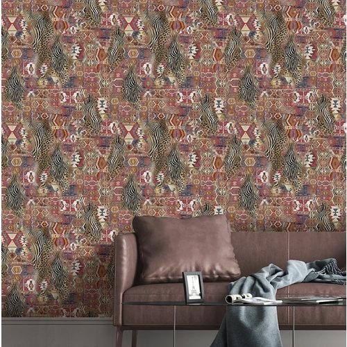 Papel pintado tnt kilim tapeti w-01 mulicolor para 6,08 m2