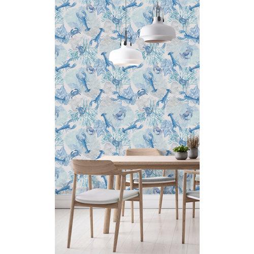 Papel pintado tnt marino egeo w-03 azul para 6,08 m2