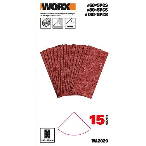 Pack 15 hojas lijadora orbital multilijadora 820 worx