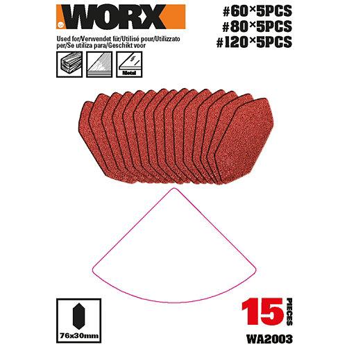 Pack 15 hojas lijadora dedo multilijadora 820 worx