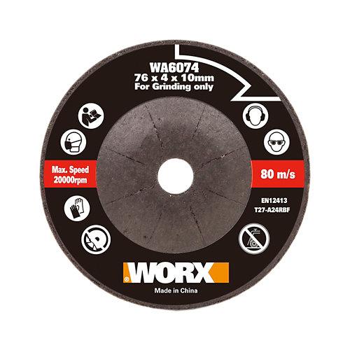 Disco desbaste metal/piedra miniamoladora 76mm