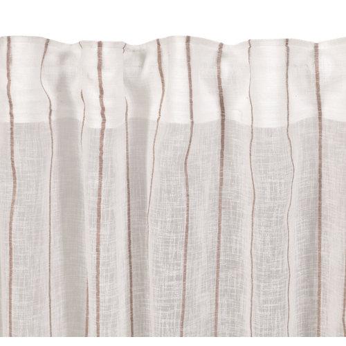 Visillo louison con motivo rayas beige de 280 x 300 cm